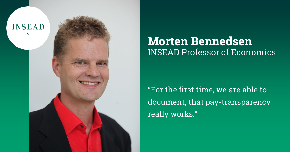 Wage transparency works: Reduces gender pay gap by 7 percent | INSEAD